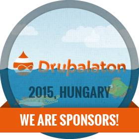 Drupalaton 2015 - We are sponsors